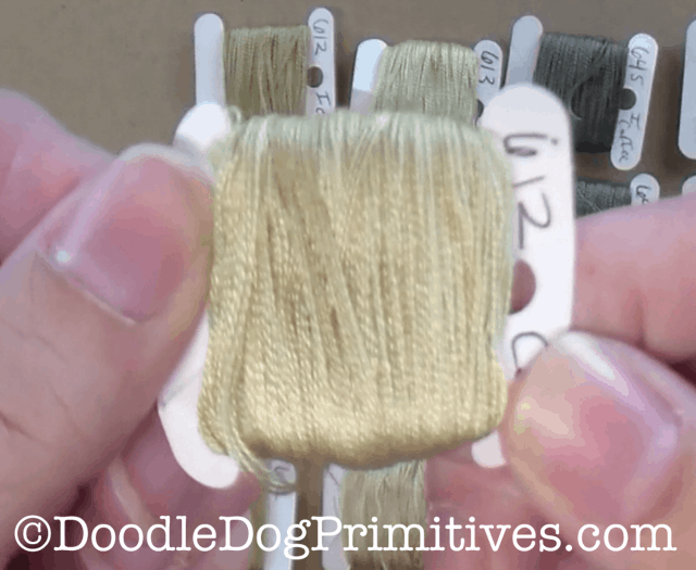 Coffee dyed floss