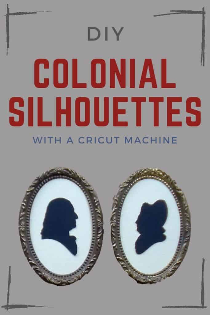 Colonial silhouette portrait tutorial