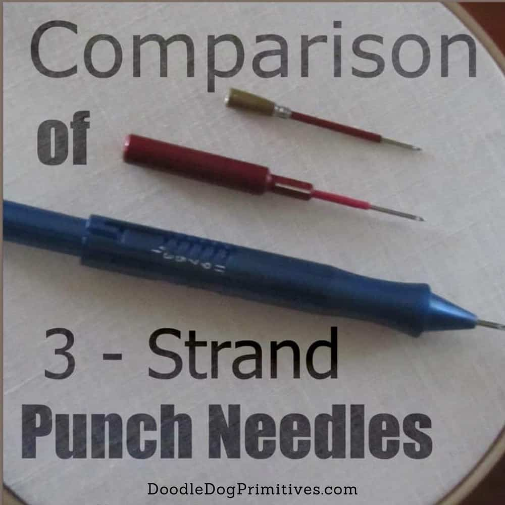 Comparison of 3 strand punch needles
