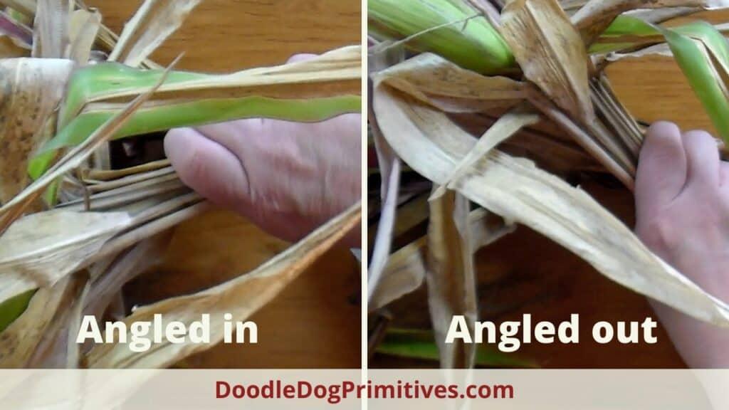 cornstalk angled in