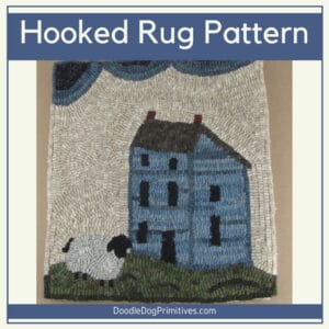 Country Home Rug Hooking Pattern