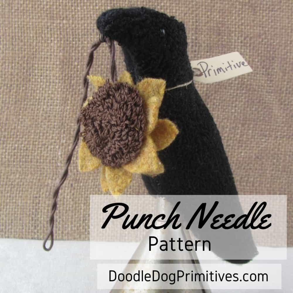 Prim Crow Make Do Punch Needle Pattern