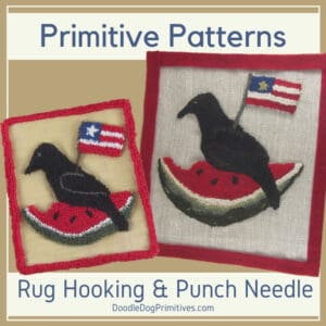 Summer punch needle and rug hooking patterns