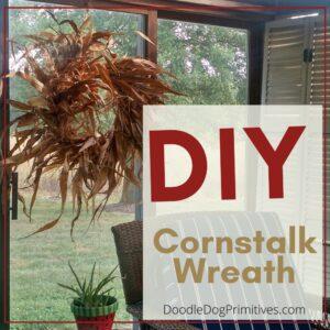 diy cornstalk wreath