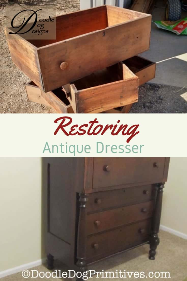 Restoring an antique dresser