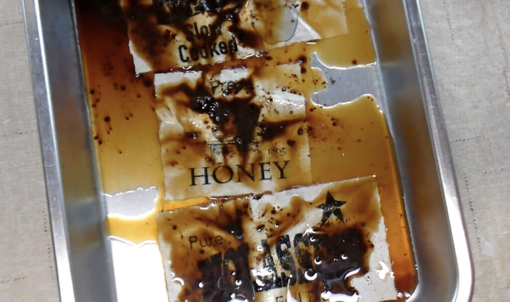 drizzle paper with coffee