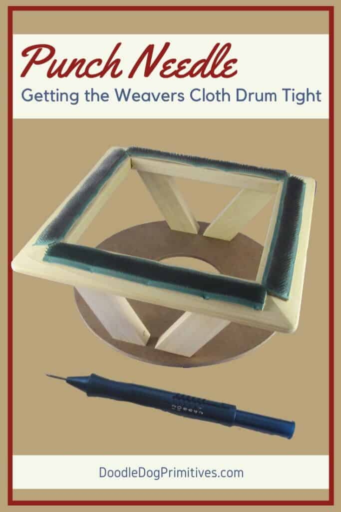 getting the weavers cloth drum tight