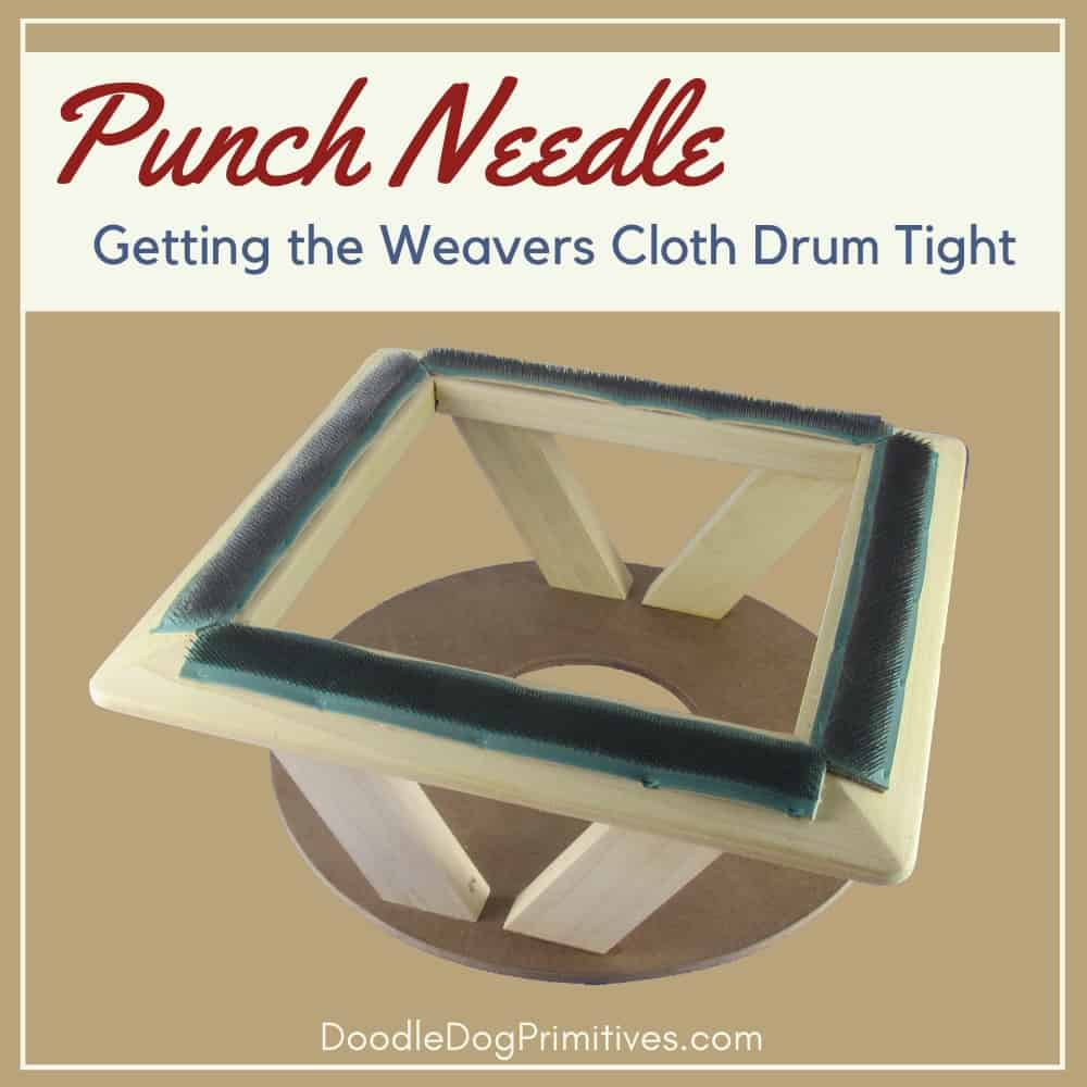 getting the weavers cloth drum tight in a gripper strip frame