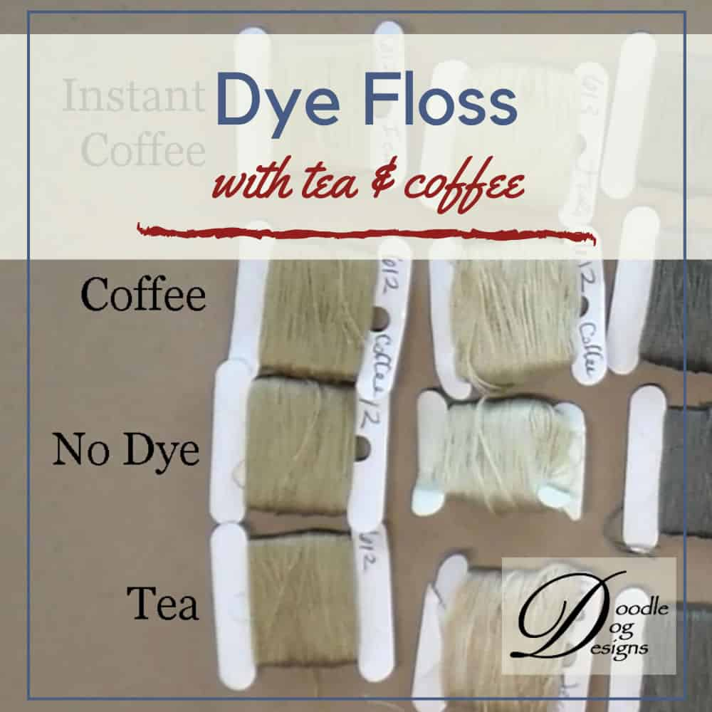 Tea & Coffee Dying Embroidery Floss