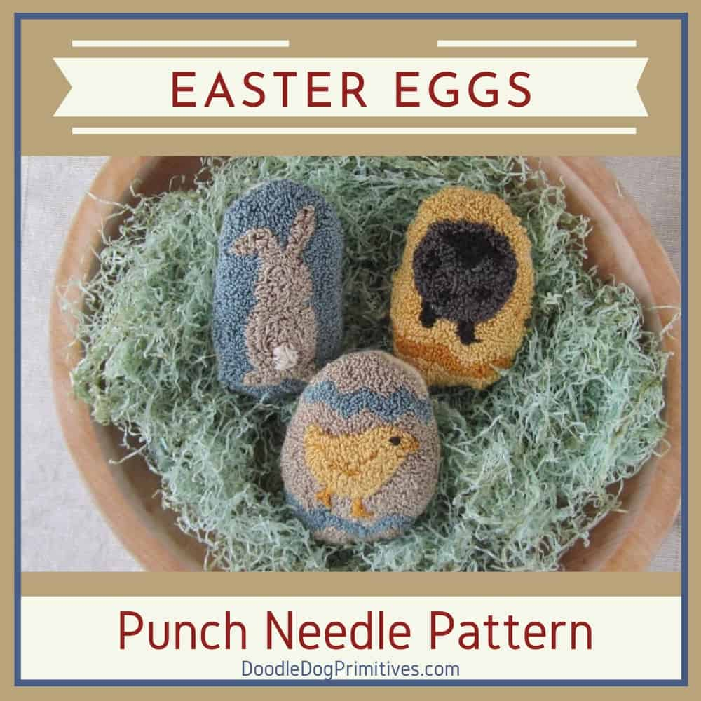 Easter eggs punch needle pattern