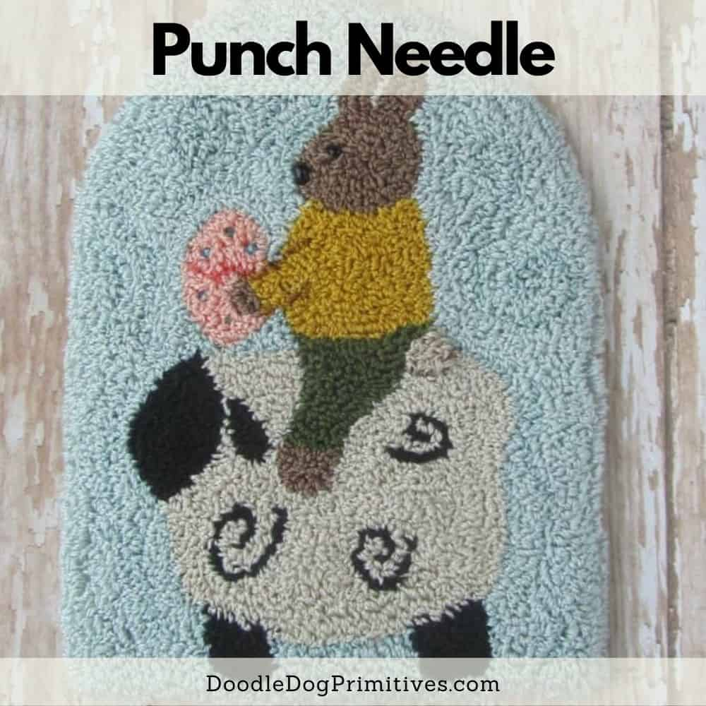 Easter punch needle pattern