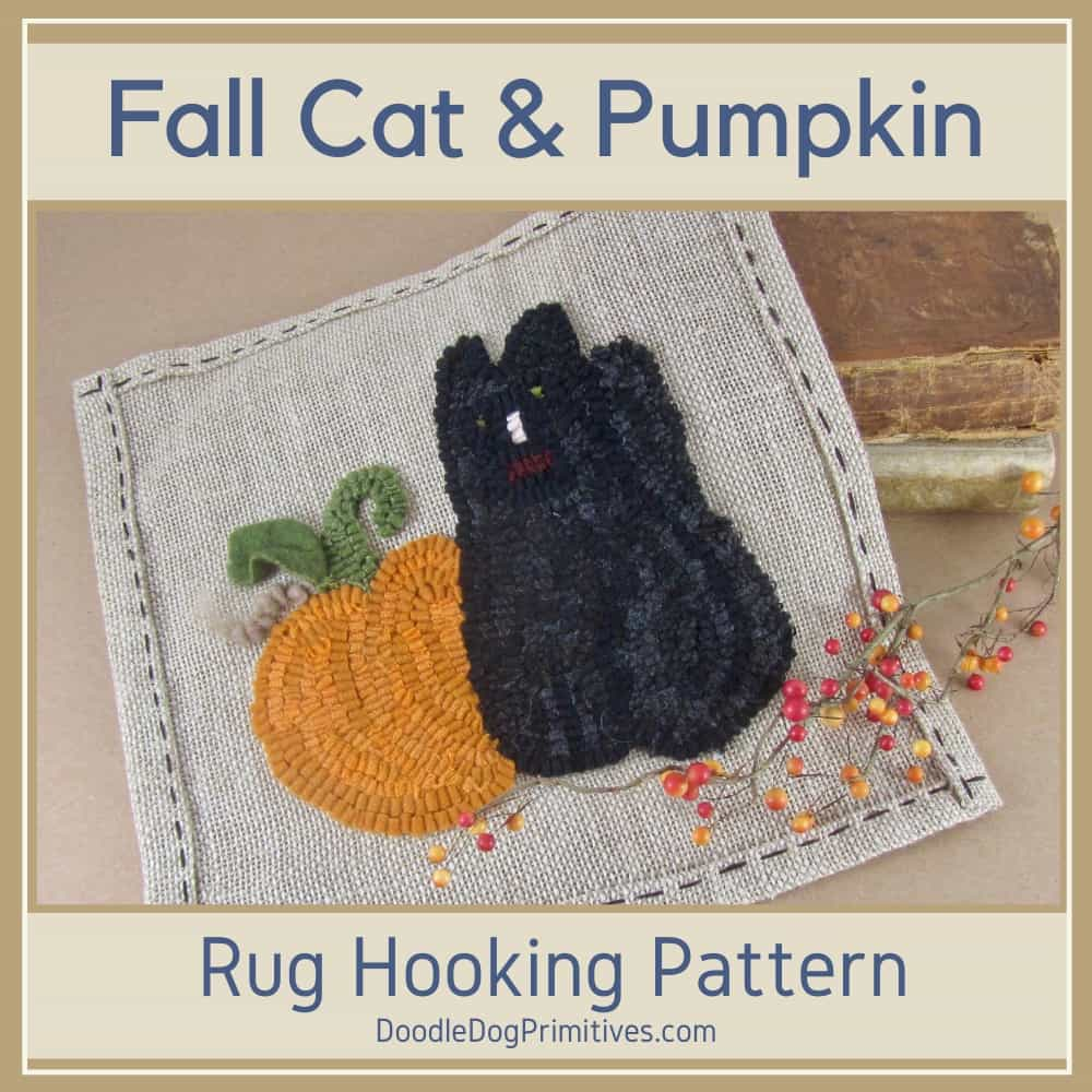 Fall Hooked Rug Pattern - Boo to You