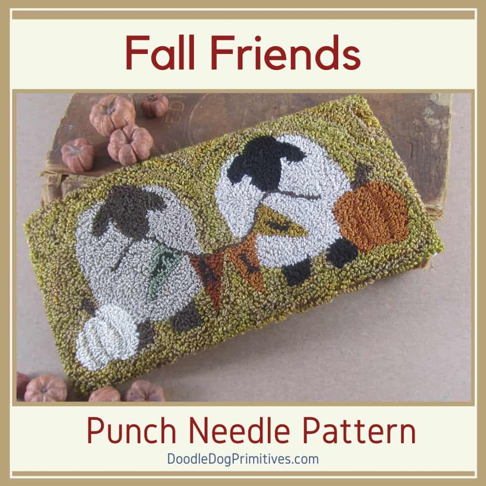 Fall Sheep Punch Needle Pattern