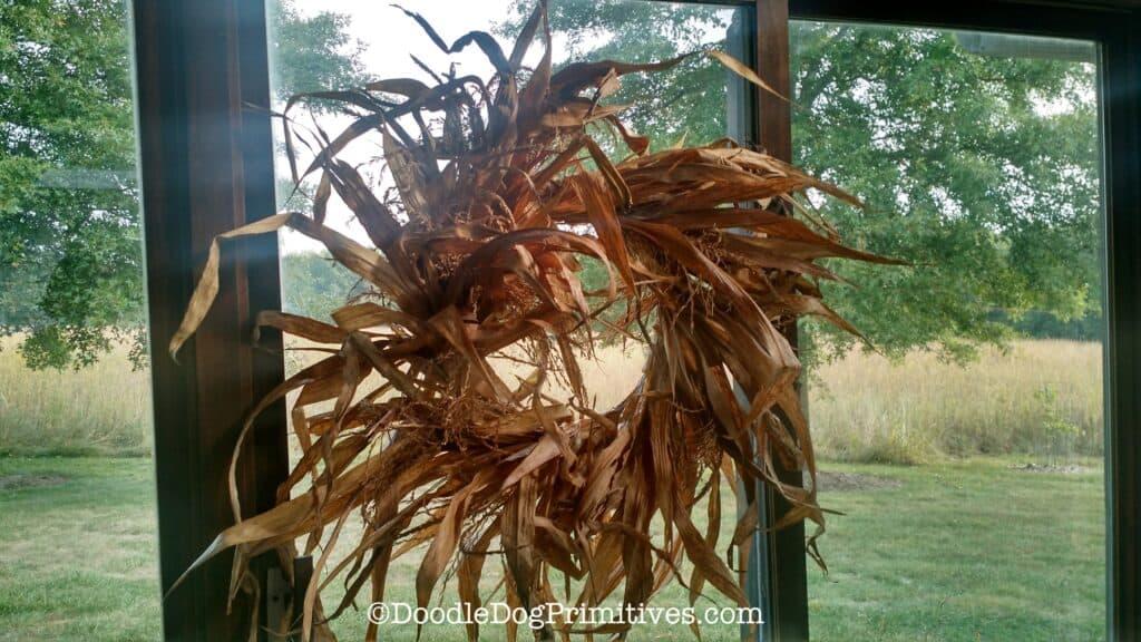 fall cornstalk wreath