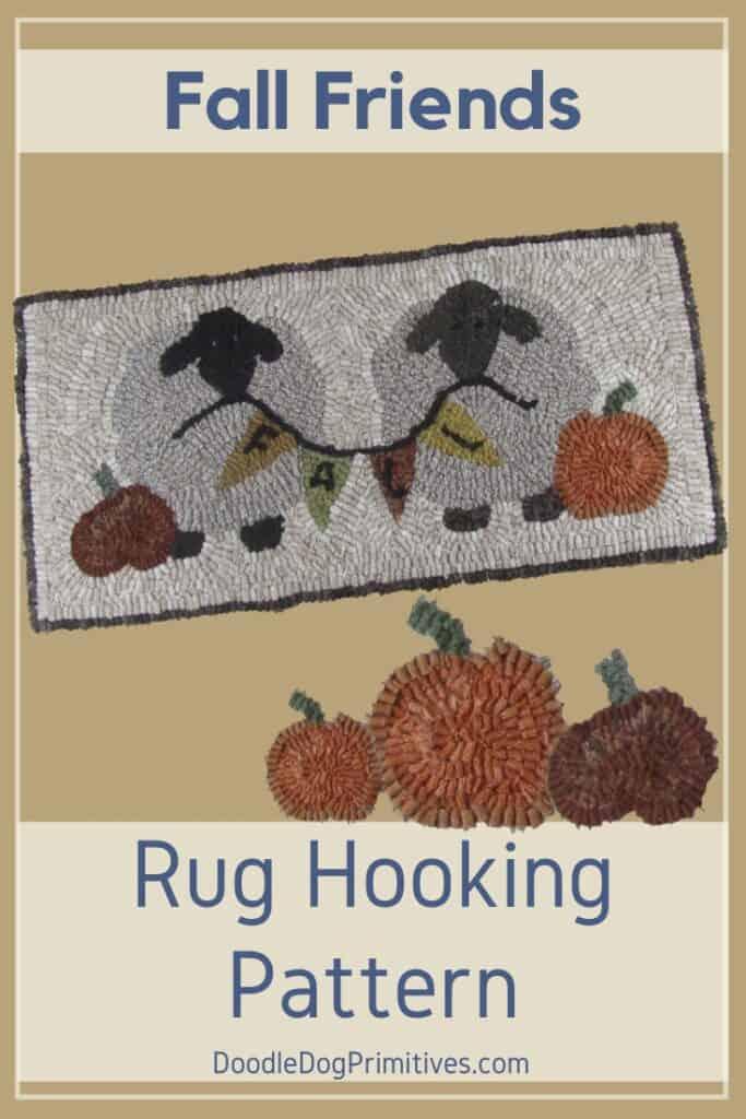 Fall Friends Rug Hooking Pattern
