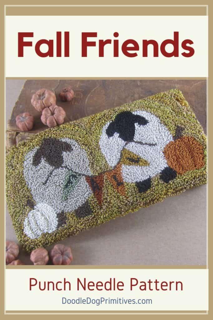 Fall Sheep Punch Needle Pattern