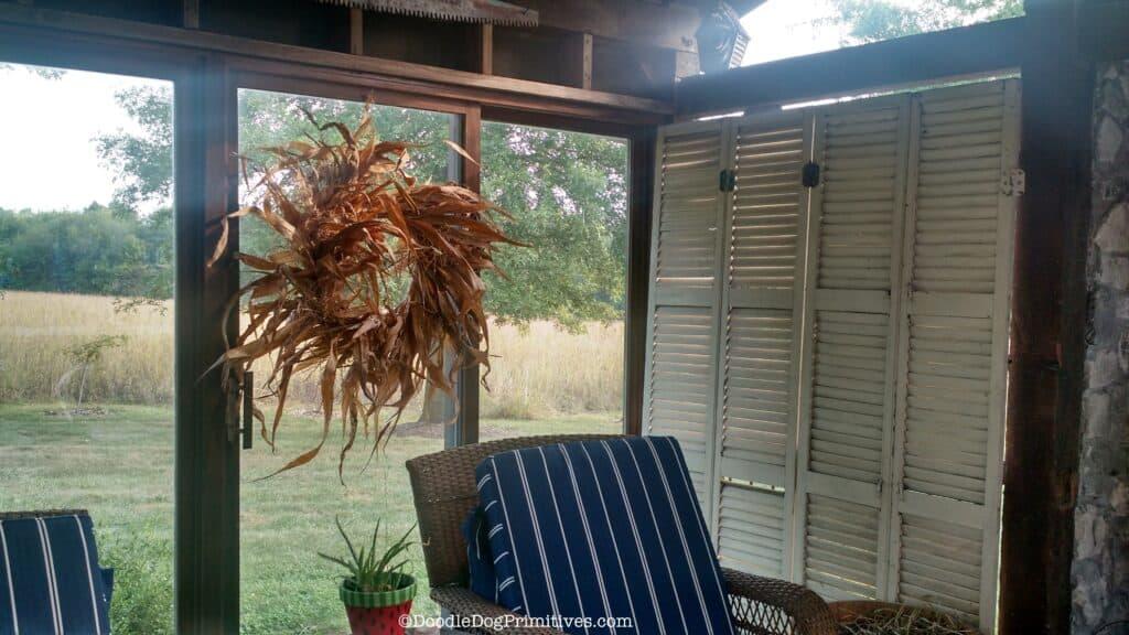rustic fall patio