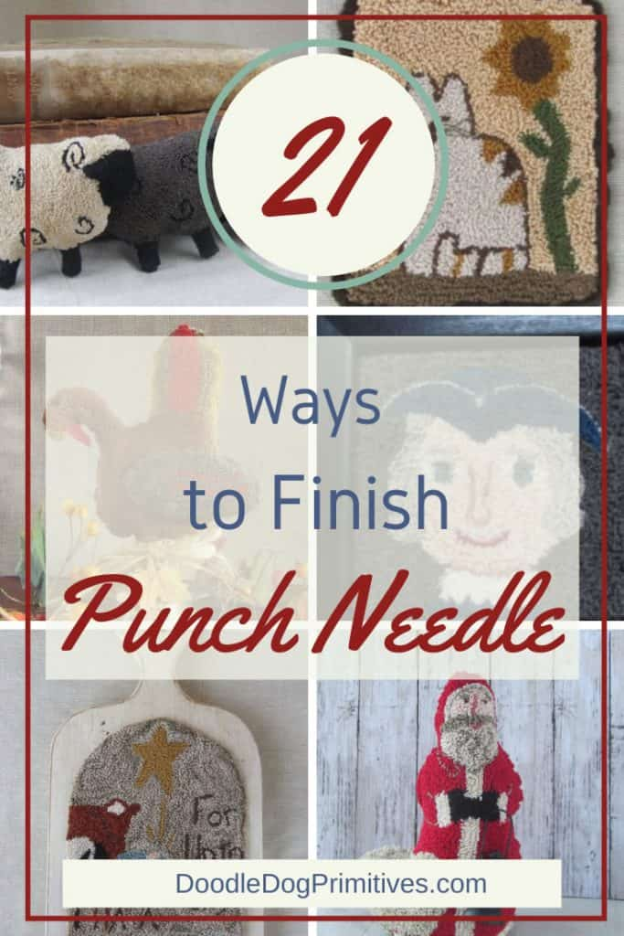 Ways to finish a punch needle project