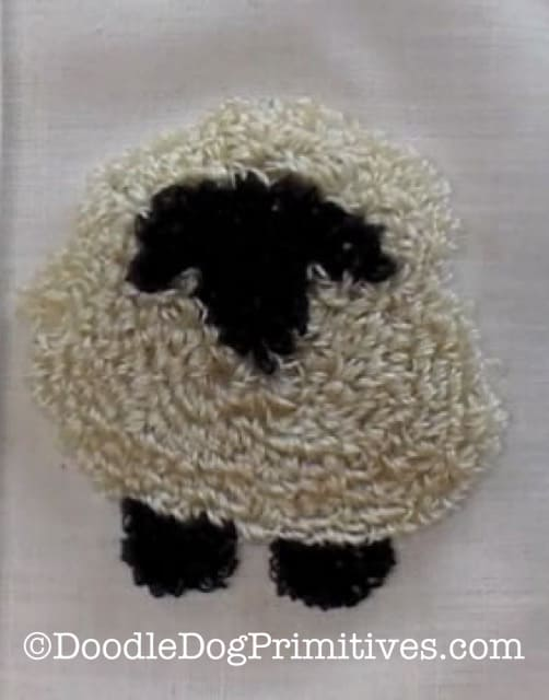 Finished punched sheep