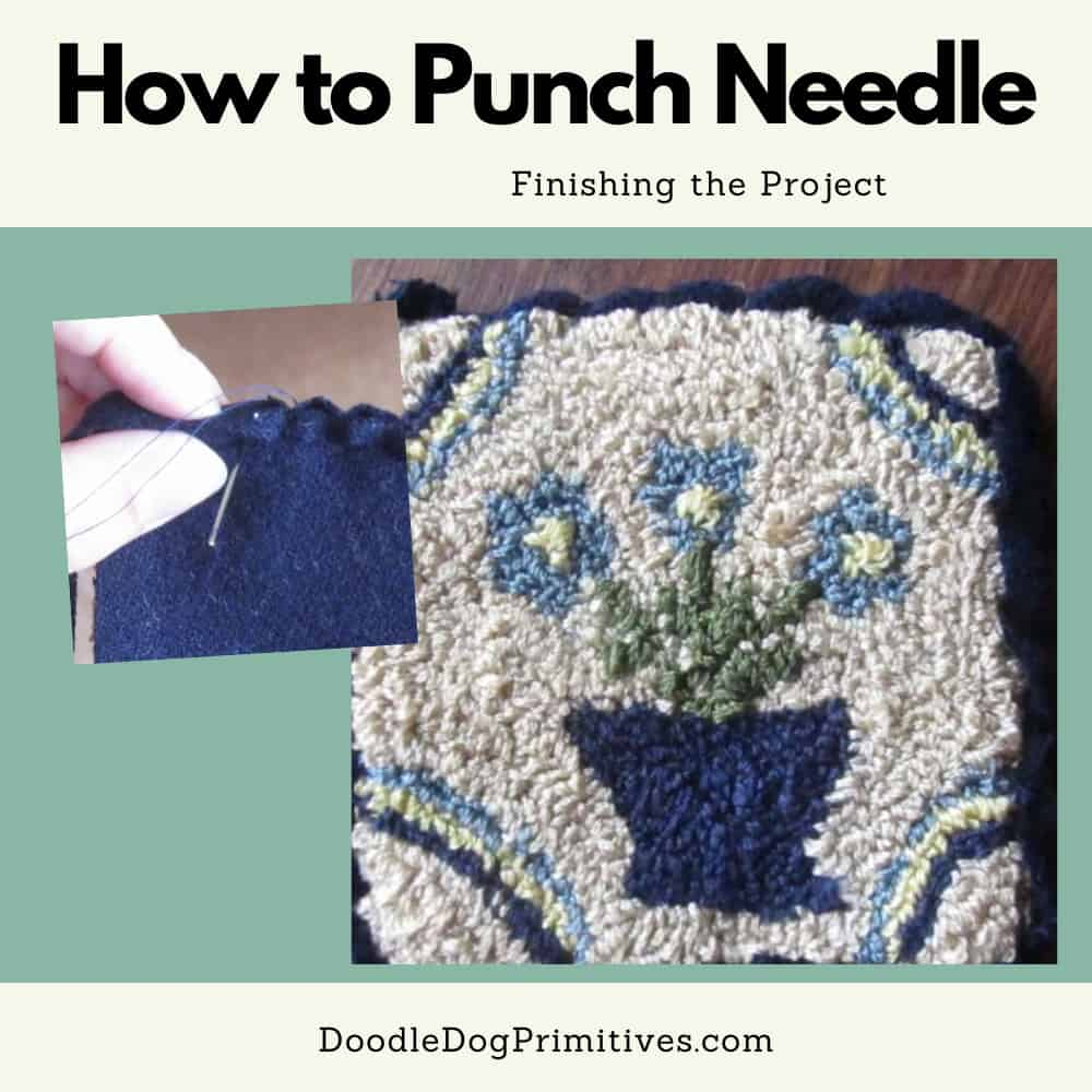 finishing punch needle