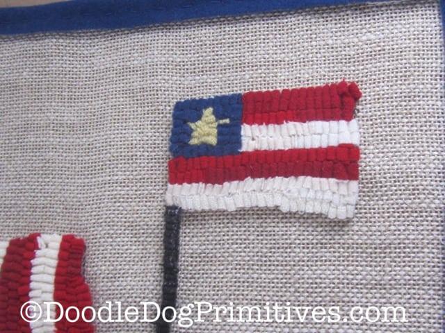 American Flag - hooked rug