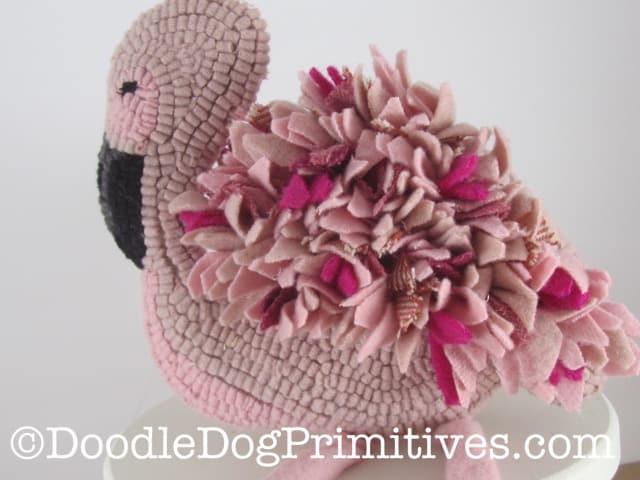 Pink Flamingo Hooked Rug