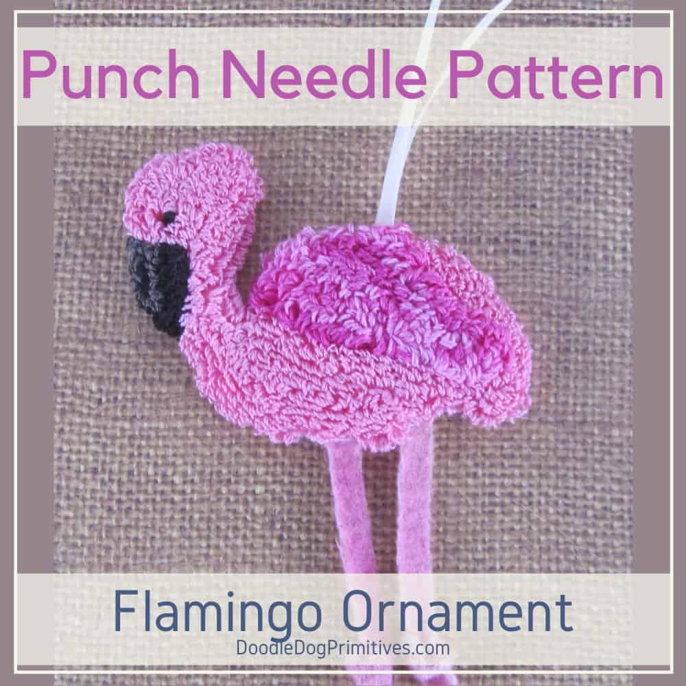Flamingo Punch Needle Pattern