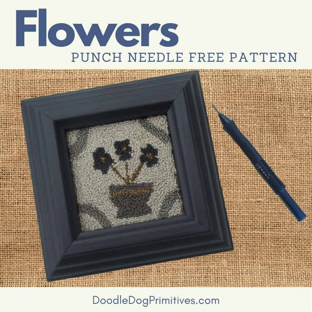 flower punch needle pattern