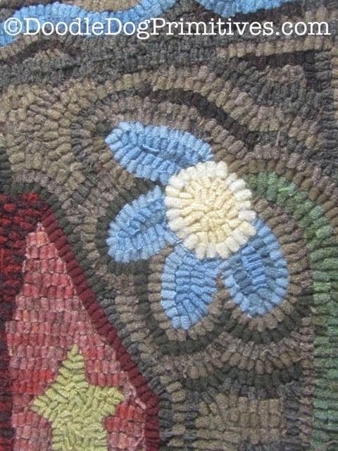 Hooked rug cone flower