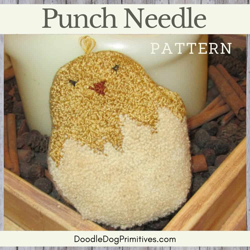Folksy Chick Punch Needle Pattern