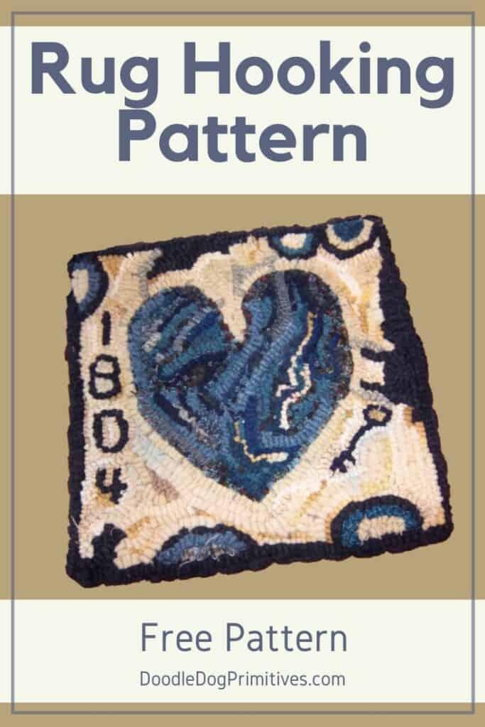 Free Hooked Rug Heart Pattern