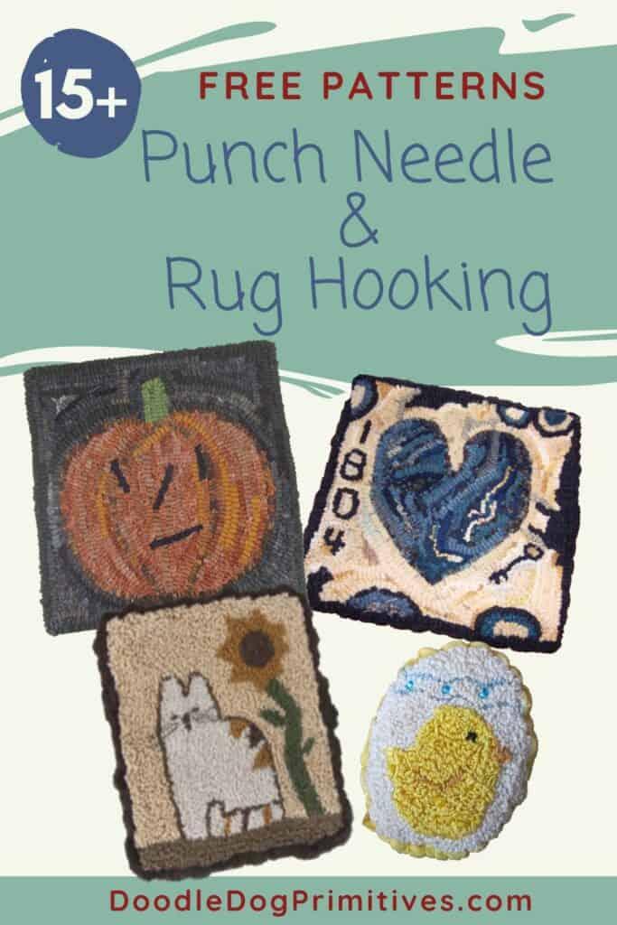 free rug hooking & punch needle patterns