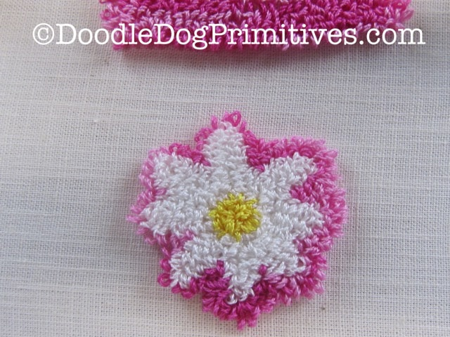 front of punched daisy