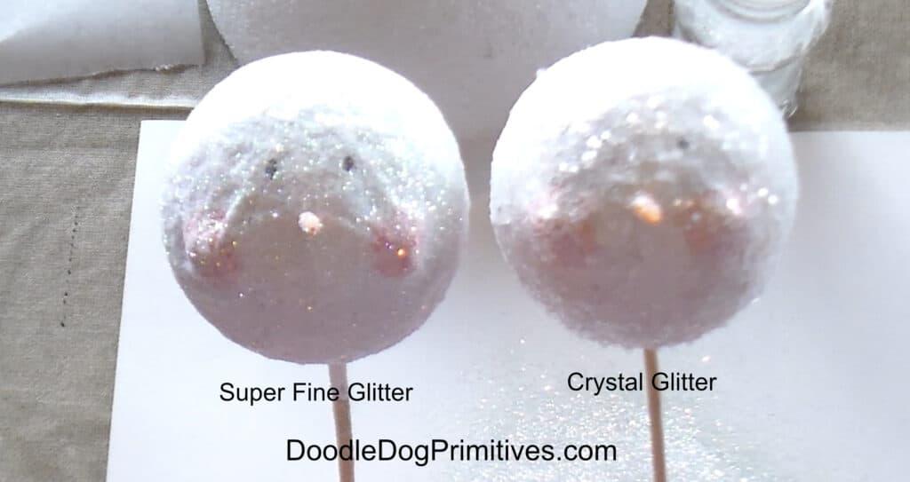 Snowman Picks with Glitter comparison