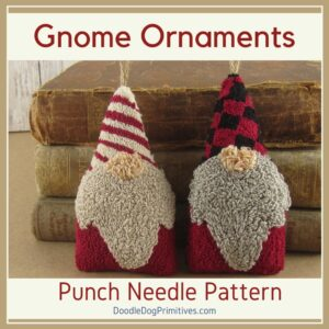 Christmas Gnome Punch Needle Pattern