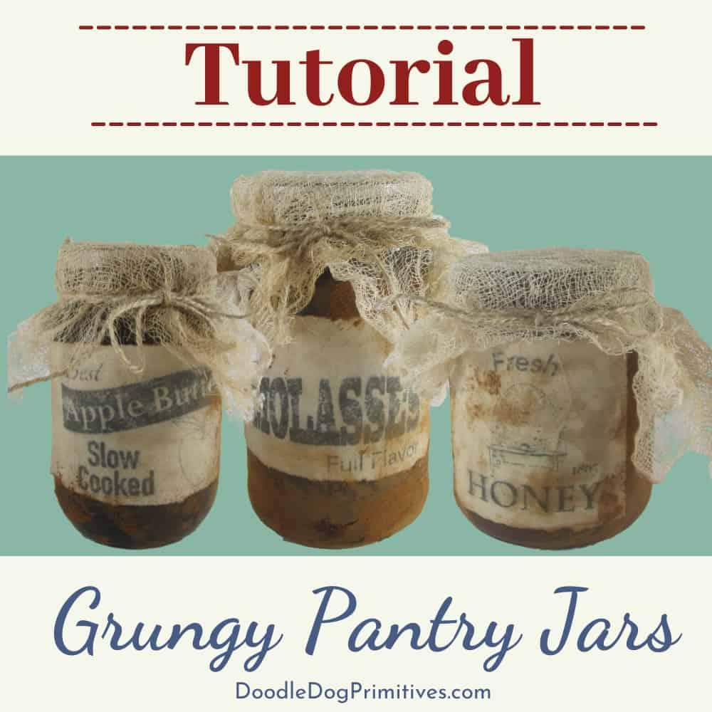 grungy pantry jar tutorial