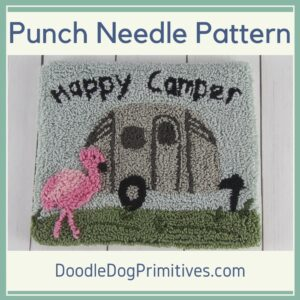 Happy Camper Punch Needle Pattern