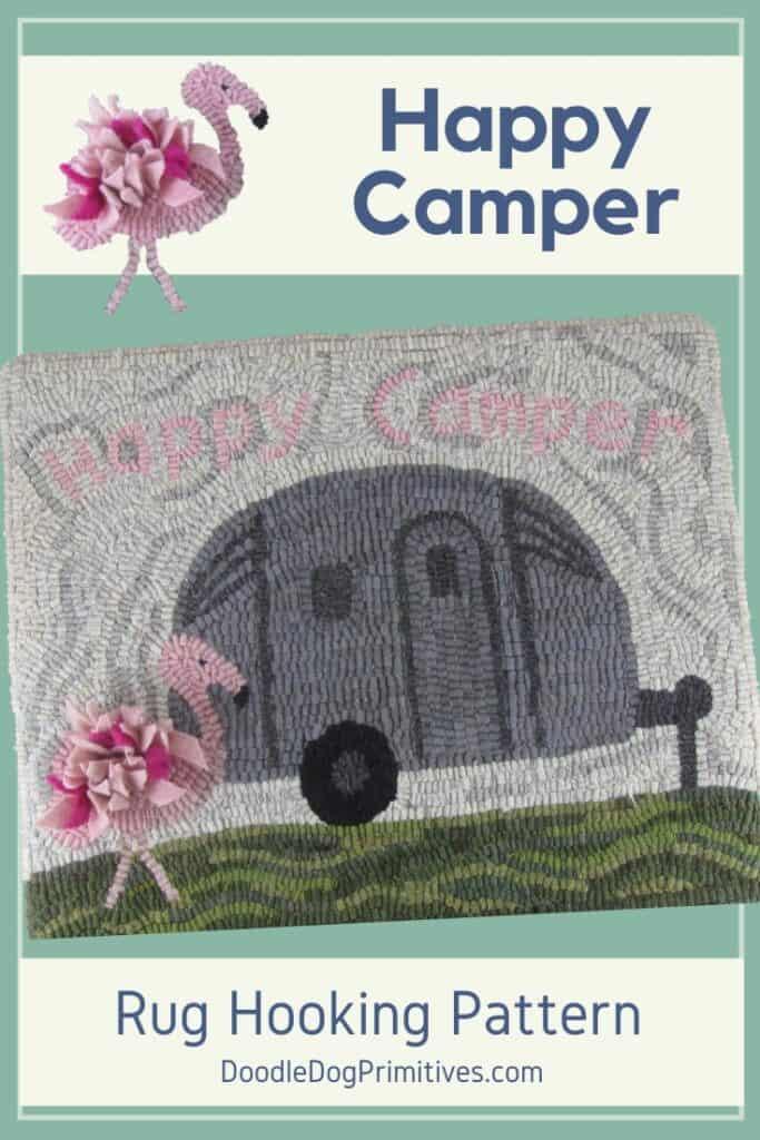 Happy Camper Rug Hooking Pattern