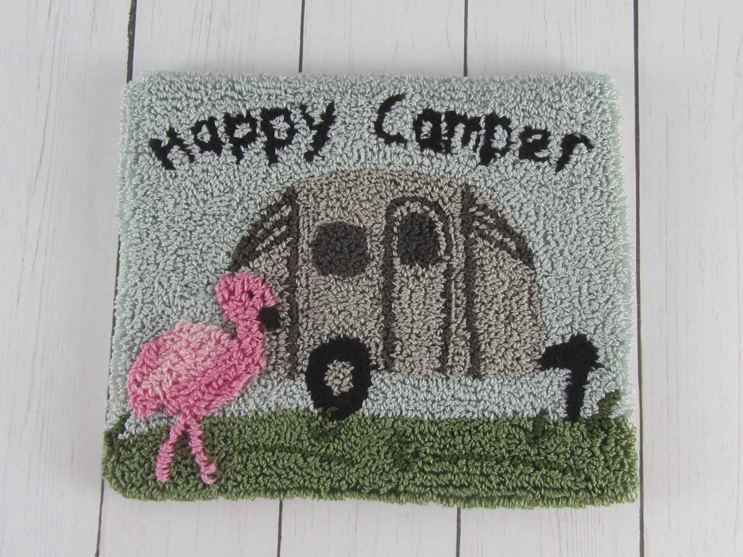 Happy Camper punch needle project
