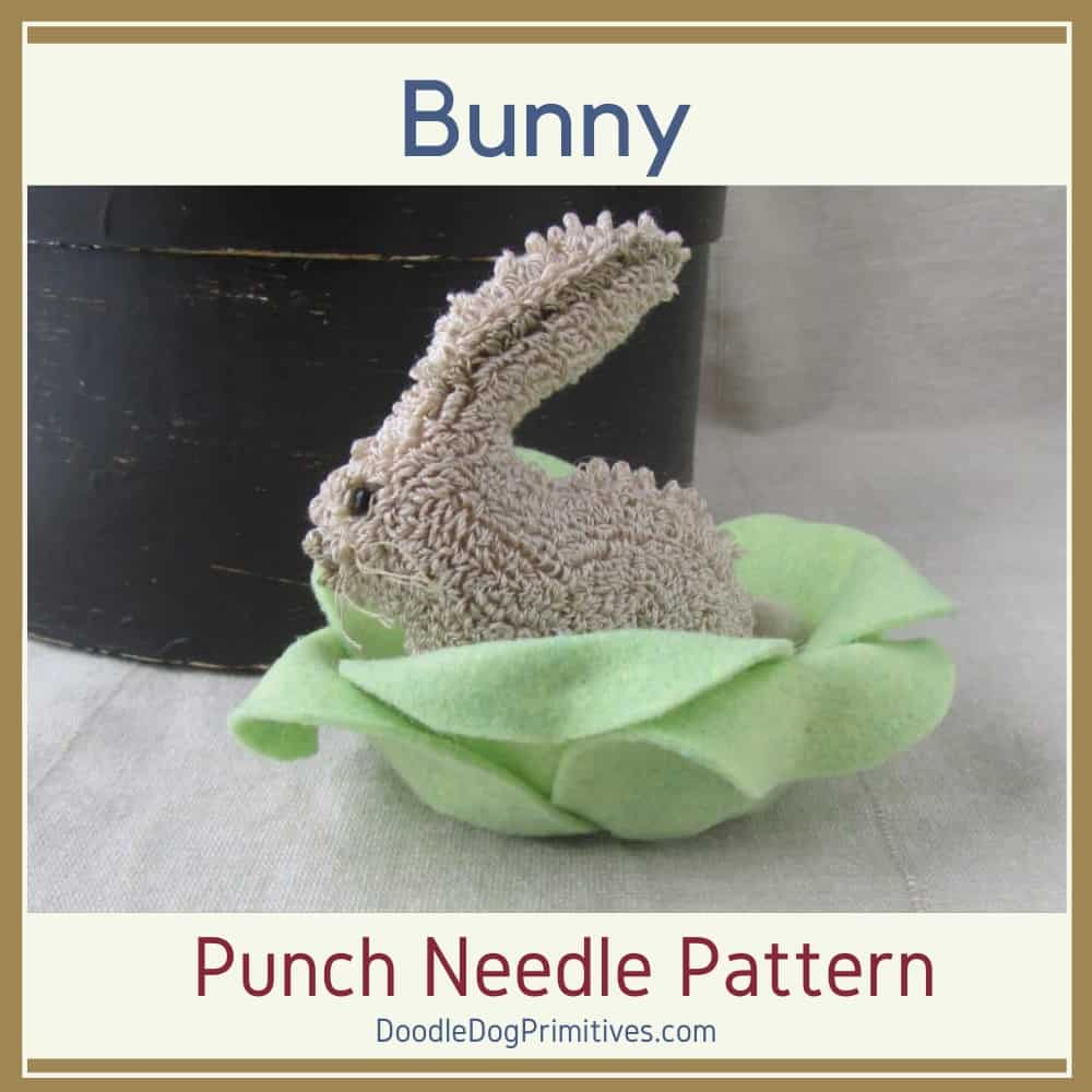 hide and seek bunny punch needle pattern