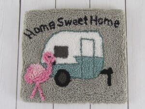 Home Sweet Camper Punch Needle Finished Project