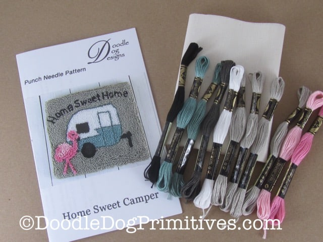 Camper Punch Needle Kit