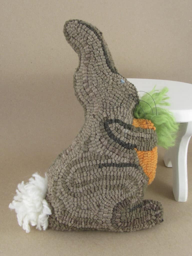 Hooked bunny pillow