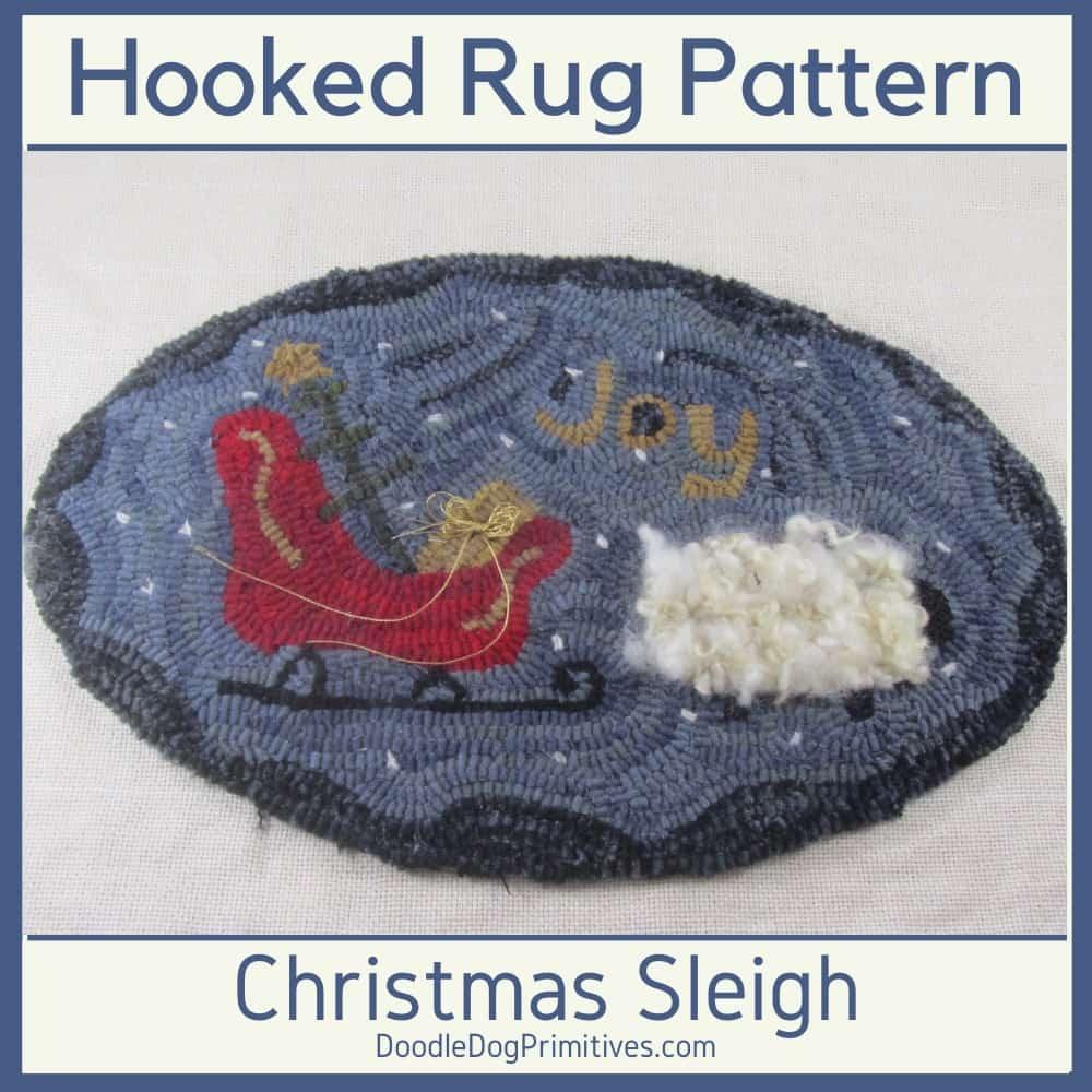 hooked rug sleigh Pattern