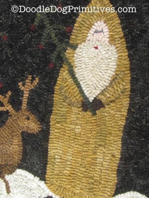 hooked yellow Santa