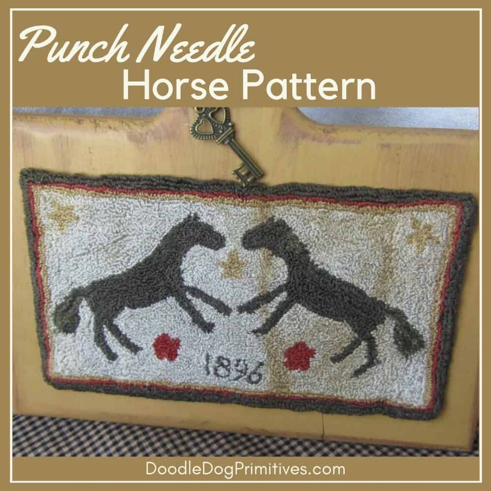 horse punch needle pattern