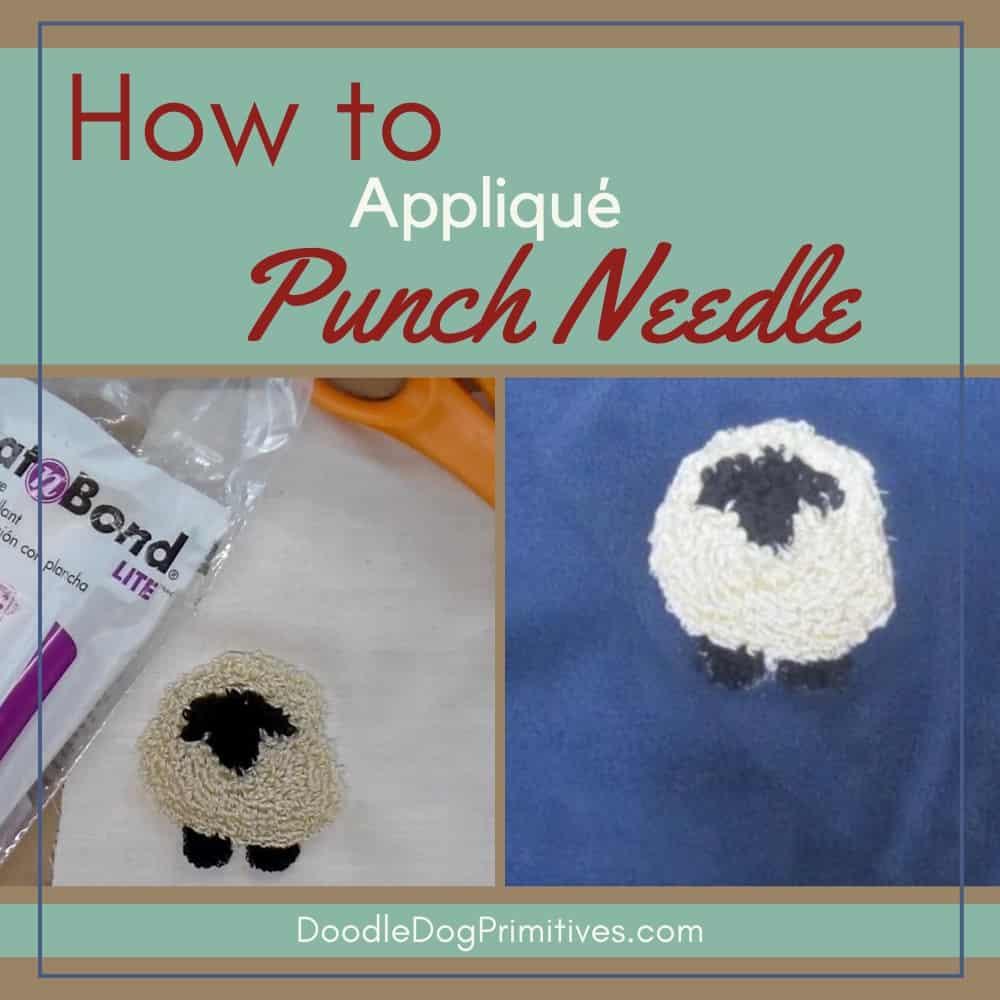 Appliqué Punch Needle Projects