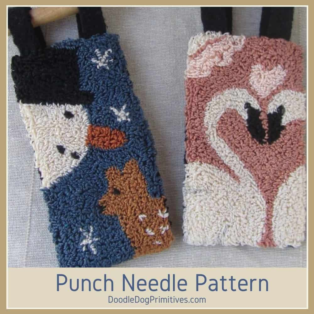 January & February Punch Needle Banners