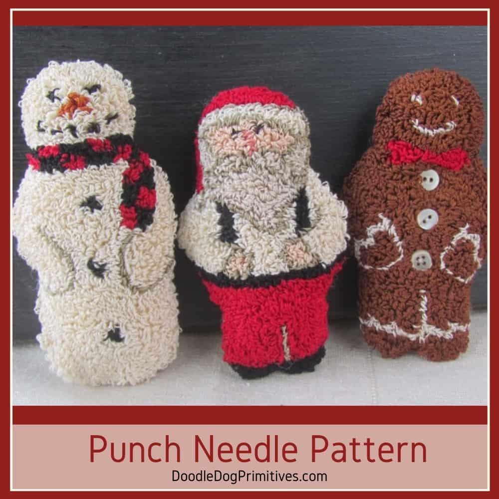 jolly friends punch needle pattern