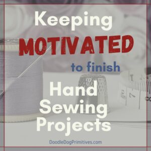 finish hand sewing projects